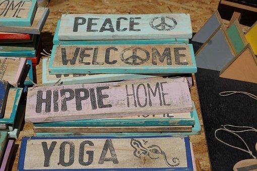 Letters, Word, Shield, Lettering, Font, Hippy Market