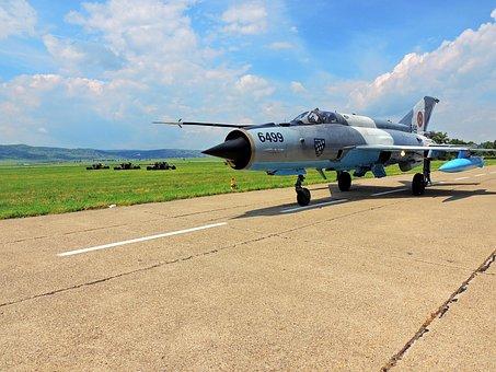 Mig 21 Lancer, Plane, Track, Pilotage, Camouflage, Jet