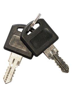 Key, Keys, Keychain, Novelty, Metal, Plastic, Black