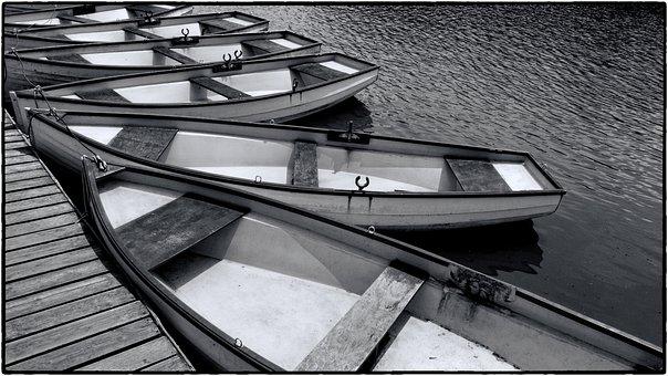 Rowboat, Boat, Lake, Park, Water, Afloat, Boats, Rowing