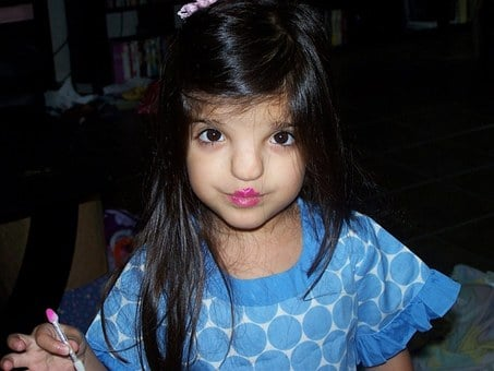 Toddler, Makeup, Lipstick, Attempt, Expression, Child