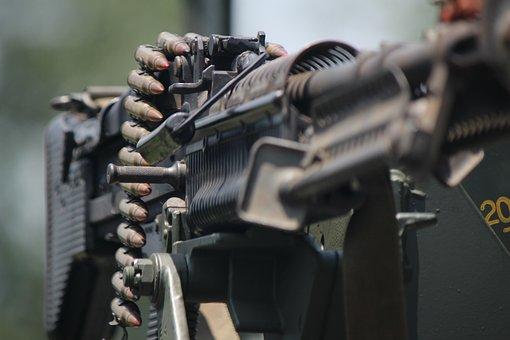 M60, Machine Gun, Army, Firearm, Gun, Machine, Weapon