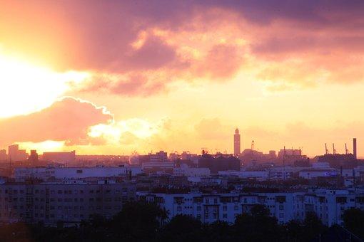 Sunset, Monster, Casablanca, Sky, Fantasy, Medieval