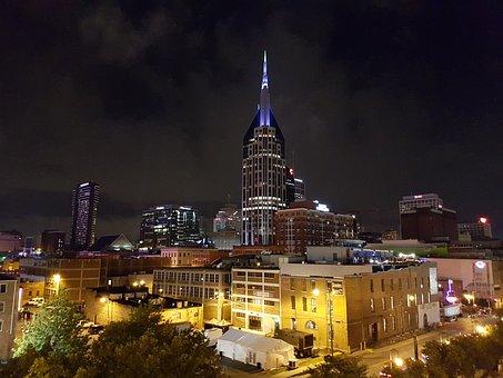 Nashville, Downtown, Night