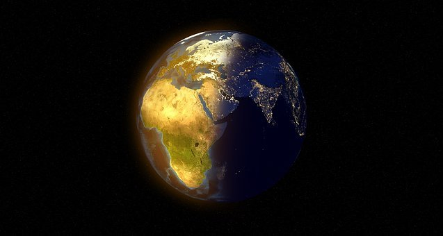 World, Globe, Day, Night, Sun, Stars, Darkness, Light