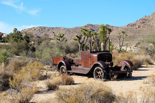 Oldtimer, Wreck, Rusty, Truck, Historic, Desert