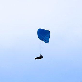 Paragliding, Drafts, Wind, Screen, Air, Himmel