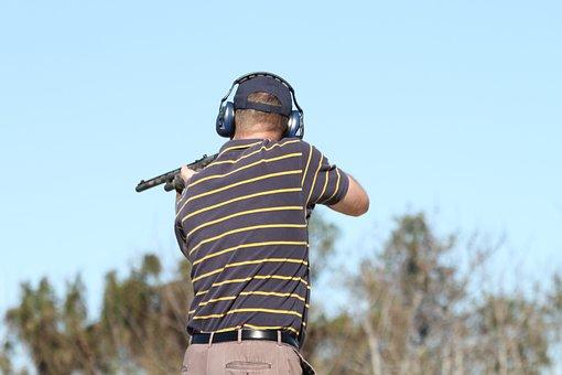Shooting, Gun, Hunting, Skeet, Trap, Man, Male, Aiming