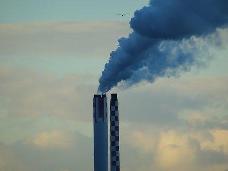 Smoke, Factory, Industry, Chimney, Power Plant