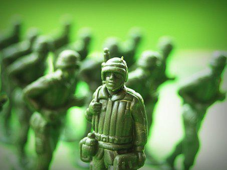 Toy, Soldier, Plastic, Action, War, Green, Guard, Small