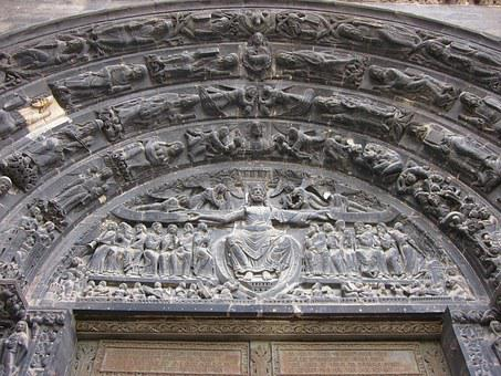 Basilica Of St Denis, Tympanum, Voussoirs, Gothic