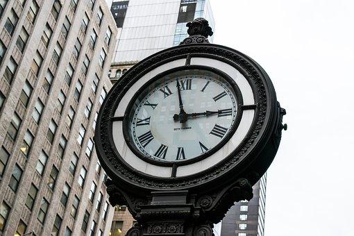 Clock, Watch, Nyc, Newyork, Old, Stopwatch, Hour