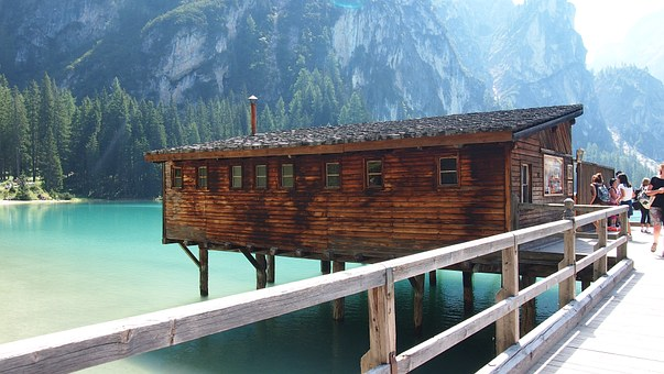 Lake, Nature, Landscape, Mountains, Water, Braies