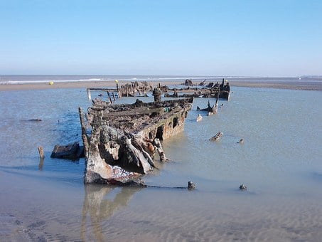 Wreck, Boat, Ship, Heritage, Beach, Operation Dynamo