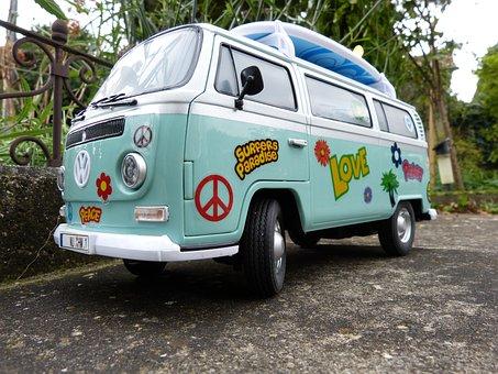 Vw Bus, Vw Model, Peace, 70s