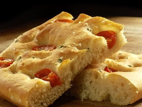 Focaccia, Cherry Tomatoes, Bread, Artisan Bread, Home