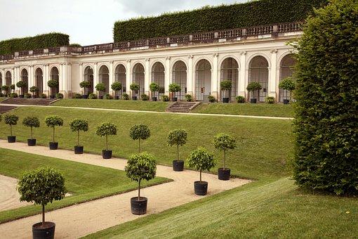 Germany, Castle, Park, Green, Sculpture, Architecture
