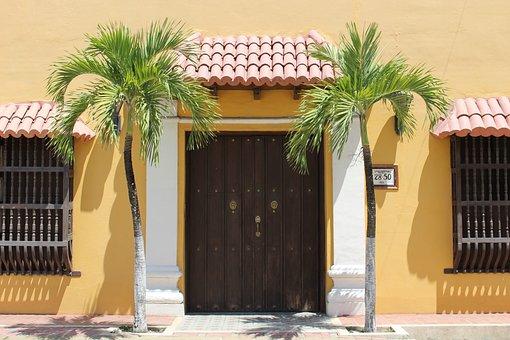 Door, Palma, Palm Tree, Colombia, Bolivar, Colombian