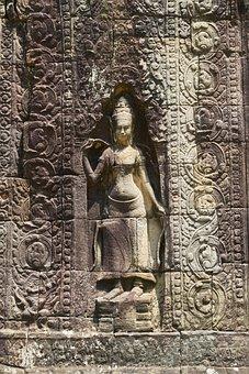Sculpture, God, Buddhism, Buddhist, Asian, Cambodia