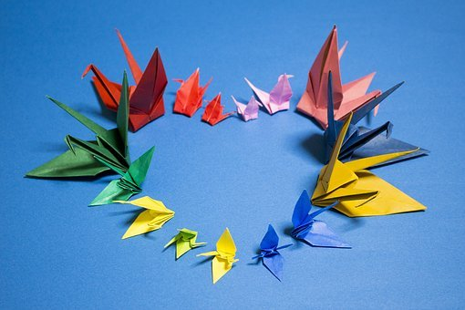 Origami, Crane, Japan, Heart, Love, Please, Hope, Peace