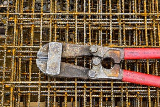 Iron Tongs, Pliers, Iron, Craft, Tool, Metal, Works