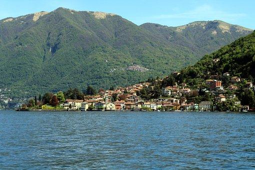 Lake, Como, Italy, Water, Landscape, Lombardy, Vista