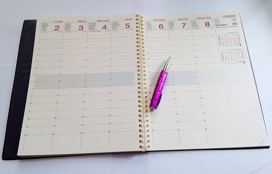 Diary, Week, Office, School, Studies, Pen, Teacher