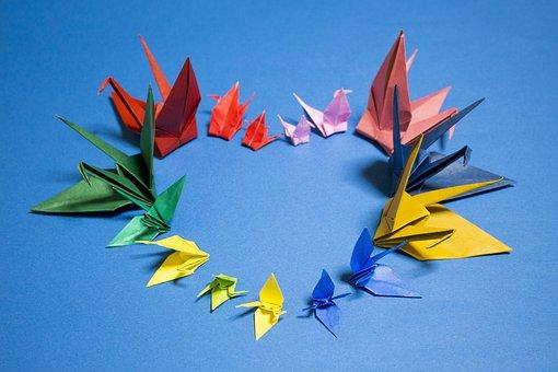 Origami, Crane, Japan, Heart, Love, Please, Hope, Peace