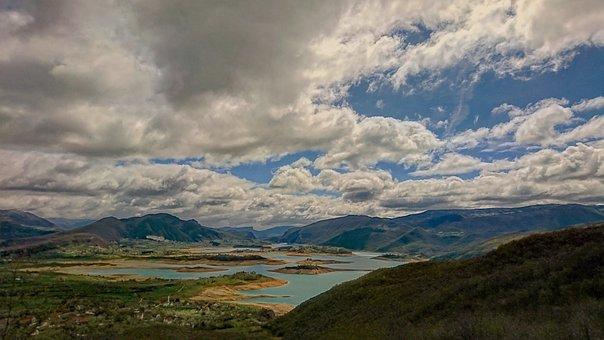 Lake, Clouds, Nature, Ramsko Jezero, Herzegovina