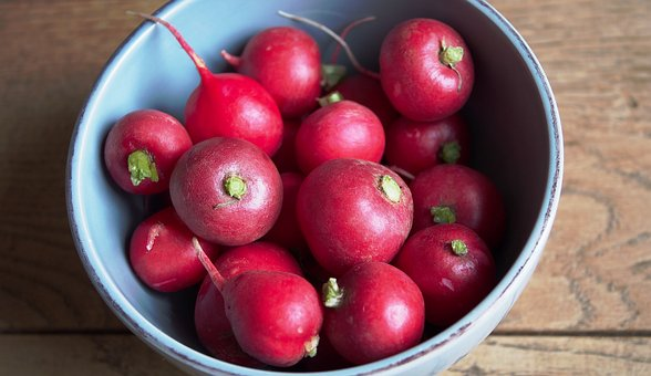 Radishes, Radix, Raphanus, Red, Pink, Healthy, Snack