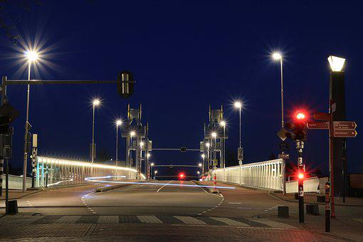 Bridge, Road, Asphalt, Lantern, Street Scene