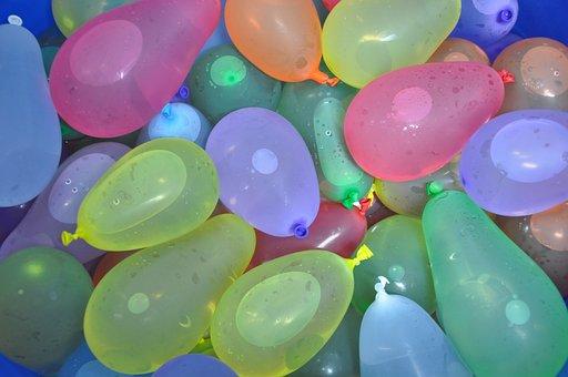 Water Polo, Color, Summer, Balloon, Joke