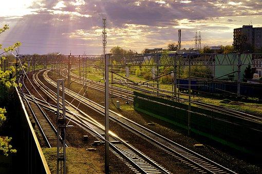 Railway, Iron, Rails, Tracks, The Station, Transport