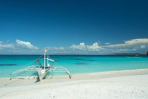 Beach, Boat, Sea, Water, Vacation, Philippines