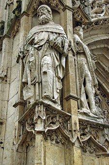 St Riquier, Abbey, Statue, Saint, Gothic, Pierre