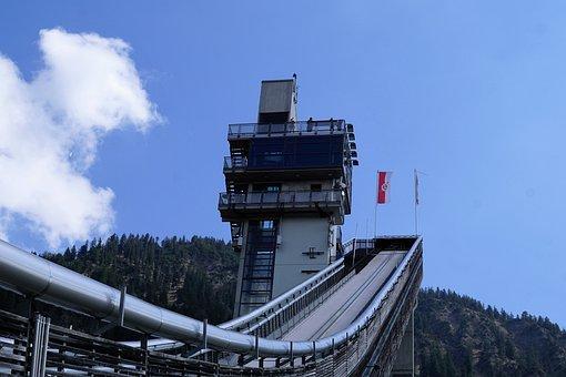 Oberstdorf, Hill, Allgäu, Ski Sport, Building, Sport