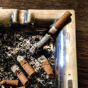 Ashtray, Cigarette, Ash, Embers, Smoking, Stub