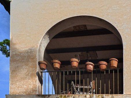 Rco, House, Abandoned, Ruin, Pots, Porch, Balcony