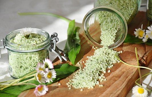 Salt, Bear's Garlic, Garlic Salt, Grains Of Salt
