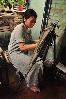 Artist, Artist At Work, Chinese Artist