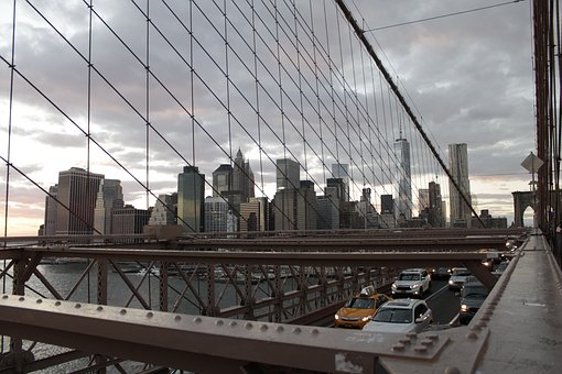 New York, Brooklyn Bridge, City, New York City, Bridge