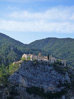 Cliff, Rock, Spa, Ruin, Cardó, Catalunya