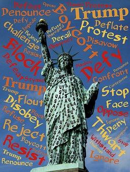 Liberty, Statue, Defy, Resist, Trump, Oppression