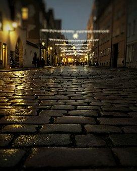 Estonia, Night, Street, Old Tallinn