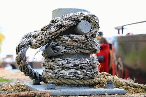 Bollard, Rope, Harness Lines, Seafaring, Create, Fixing