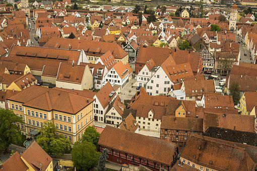 Nördlingen, City, Homes, Truss, Architecture, Building