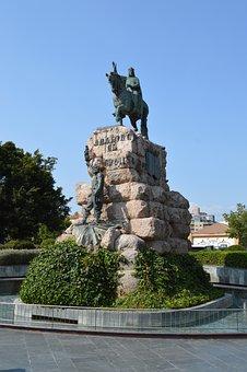 Statue, Jaime I, Placa Espanya, Palma, Majorca