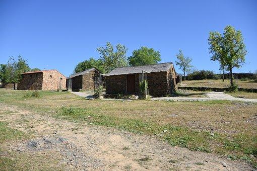 Extremadura, Monfragüe, Huts Typical