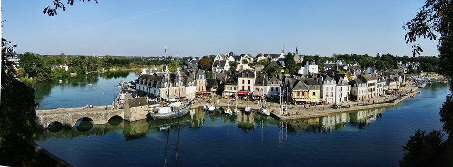 Old Town Of Auray, Morbihan, France