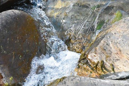 River, Water Stream, Creek, Rocks, Brook, Movement